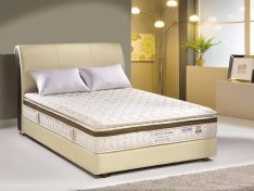 COMFORT SENSE MEMORY FOAM * Memory foam * 3 Zone pocket spring * Edge foam support * Pillow top on plush top * Non flip * Anti Dustmites * Imported rayon knitted fabric * 10 years guarantee