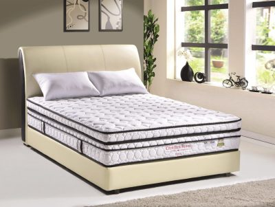 COMFORT SENSE LATEX * Latex * 3 Zone pocket spring * Edge foam support * Box top on plush top * Non flip * Imported knitted fabric * 10 years guarantee * Coolmax